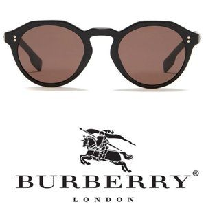 Burberry 48mm Brown Round Sunglasses
